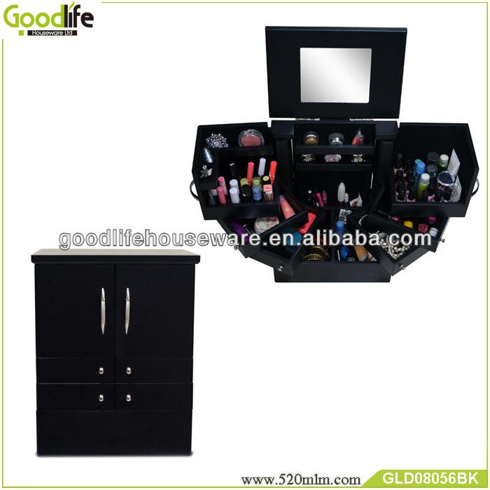 European style nail polish storage wooden makeup case