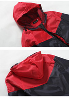 Мужская толстовка New style fashion mens hooded coats casual active Jacket Color matching men windbreak jackets 4 colors 4 size ZL474