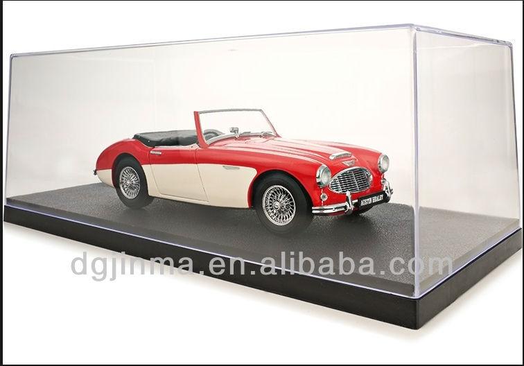 Clear Acrylic toy dislay case,model car display box