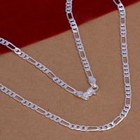 Новая мода стерлингового серебра 925 цепь 4 мм 16' - 30' цепи подвески ожерелья для женщин мужчин ювелирных изделий smtn102