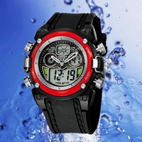 Наручные часы OHSEN Fashion Brand EL Backlight Red Clear Waterproof Sport Diving Watch Mens Dual Hours Date Quartz
