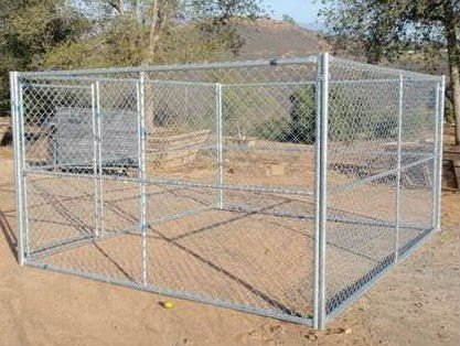 3.0x3.0x1.8 m hot dip galvanisé chien chenil chien cage animal cage