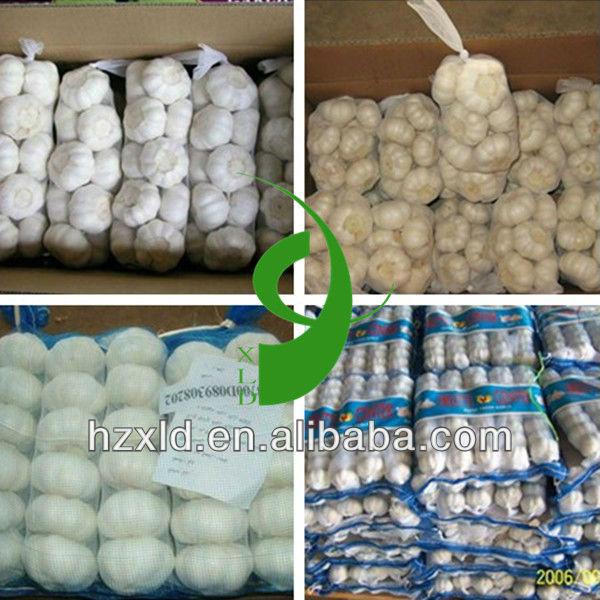 5.5cm Chinese white natural garlic price in 250g/500g/net bag