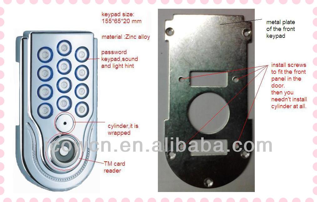 wholesale tm10cm touch screen keypad digital lock for doors locks. Black Bedroom Furniture Sets. Home Design Ideas