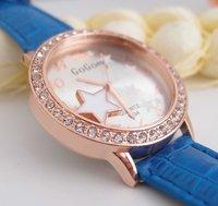 Наручные часы Analog sport casual round silicone quartz crystal watches ladies wristwatch women girl children leather strap dress watch 9-457