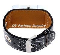 Наручные часы Fashion Irregular Shape Mens Lady Quartz Stainless Steel Leather Band Wrist Watch GL030702