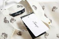 2013 NEW Z*RA Sexy Vintage Metal Finishing Leopard Head Pattern Lapel Collar Ladies' Chiffon Shirt/Free Ship/3 Size:S M L/A1598