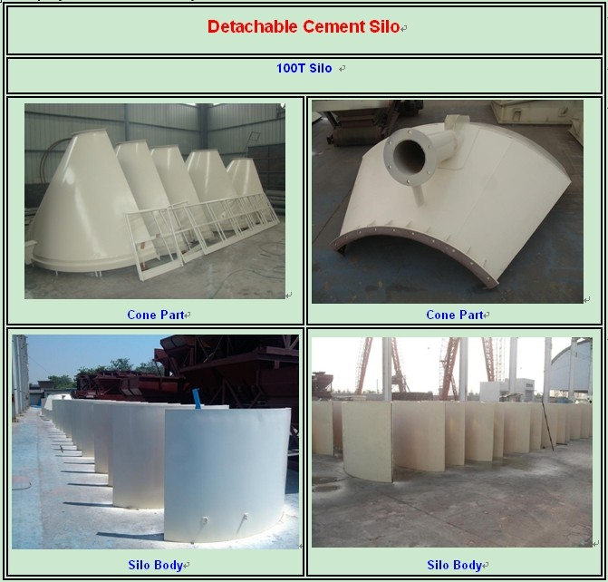 100ton Cement Silo for sale,Powder Storage Silo,Mobile Cement Silo Price