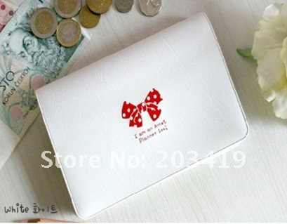 wholesale free shipping 8pcs/lot New fashion bowknot business bank credit Card team holder bag case
