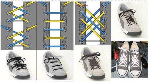 Как сделать шнурки для обуви своими руками