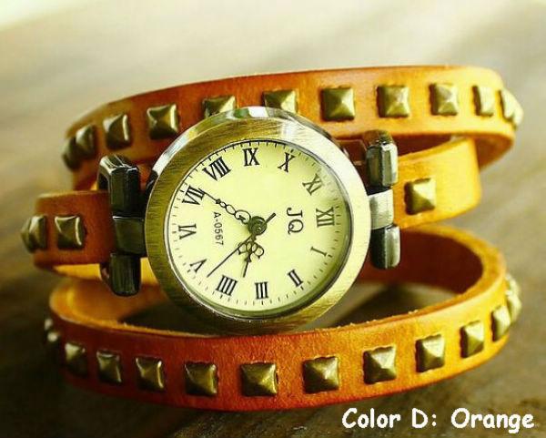 Livraison gratuite Vintage en cuir montre nouveau modèle