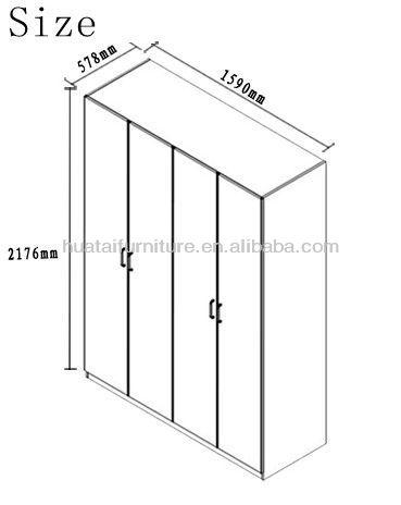 simple design 4 door hotel wardrobe furniture 4 door wooden wardrobe