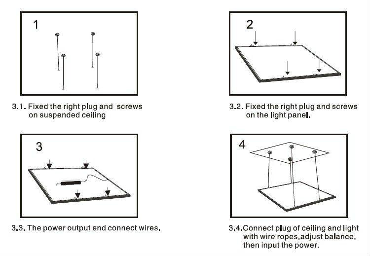 2x4ft 600 x 1200 mm panneau de led light avec CE RoHS approuvé