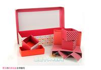 Коробка для хранения Korea diy paper finishing Desktop Storage Box office desktop stationery box 7 grid storage box cosmetic Qige