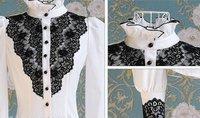 Женские блузки и Рубашки 2012 Newest Women fashionable shirt/office lady shirt S M L XL XXL Drop-shipping acceptable