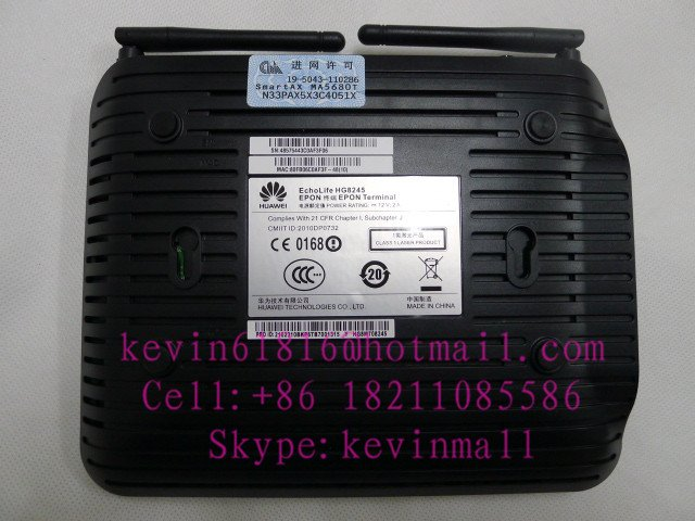 Huawei ONU Echolife HG8245 Epon optical network Terminal apply to FTTH ONT wireless 802.11B/G/N with English setup interface
