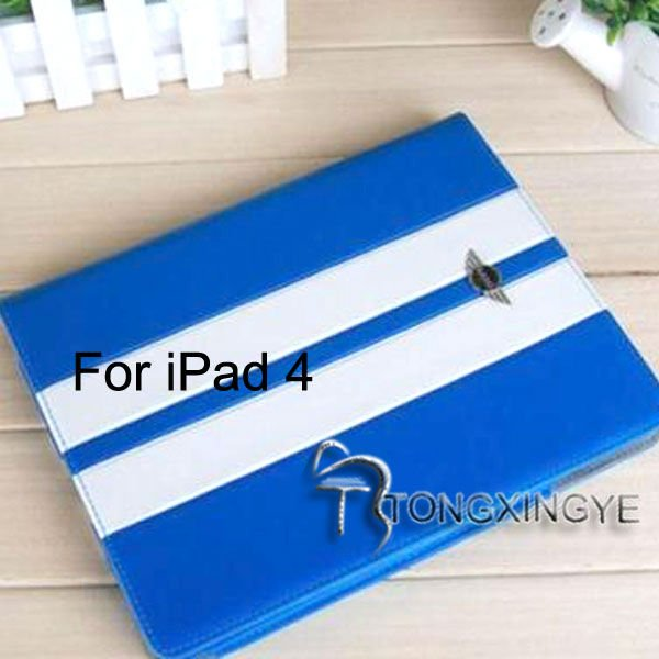 2013 smart fashion and newly pu leather case for ipad 4,with your logo or design