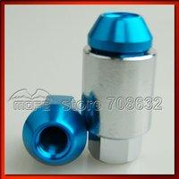 Rays Racing Wheel Aluminum Nuts P1.25 Black 20PCS/SET Dia: 19mm L:35mm