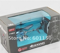 2012 Xmas F103 RC Helicopter 4CH 4 Channel Gyro LED Mini LED I/R Metal Model RTF Red free shipping