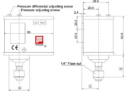 air compressor pressure switch P series