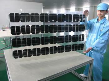 high efficiency framed 12V 100w solar panel