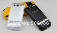 For samsung galaxy s3 external battery power charger case cover with usb&stand