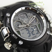 Наручные часы New Black Clear Waterproof Sport Diving Watch Mens Boy Dual Hours Date Quartz OHSEN Brand iw061