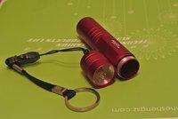 Светодиодный фонарик 20pcs/lot Mini Aluminum Alloy LED Flashlight Electric Torch Diameter 2cm Length 9.5cm JNC-FL01