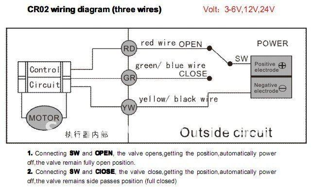 5pcs lot 3 wires bsp 3 4 port motorized valve 3 6vdc for hvac water treatment