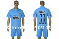 Цена завода! 12/13 Сантос прочь голубой тайский качества 11# neymar jr футбол футбол Джерси + шорты комплекты, размер: s/m/l/xl