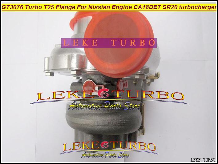 GT3076 Turbo T25 Flange For Nissian Engine CA18DET SR20 Turbocharger (3)