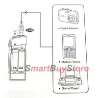 Зарядное устройство new AA Battery Emergency USB travel Charger for iPhone 4 G 3G 3GS mobile camera + + tracking number