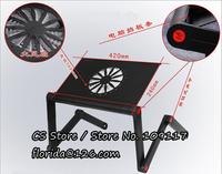 алюминиевого сплава Hоутбук стол портативный складной, регулируя большой кулер вентилятор cooldesk ноутбук стол ноутбук компьютер стол # d007