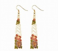 Оригинальные серьги Carriage. Provide tracking number. Earrings. Cloisonne earrings. and retail cloisonne earrings