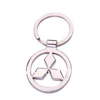 Auto эмблема значок брелок для mitsubishi модным выдолбленные автомобиля логотип брелок мужчин брелок