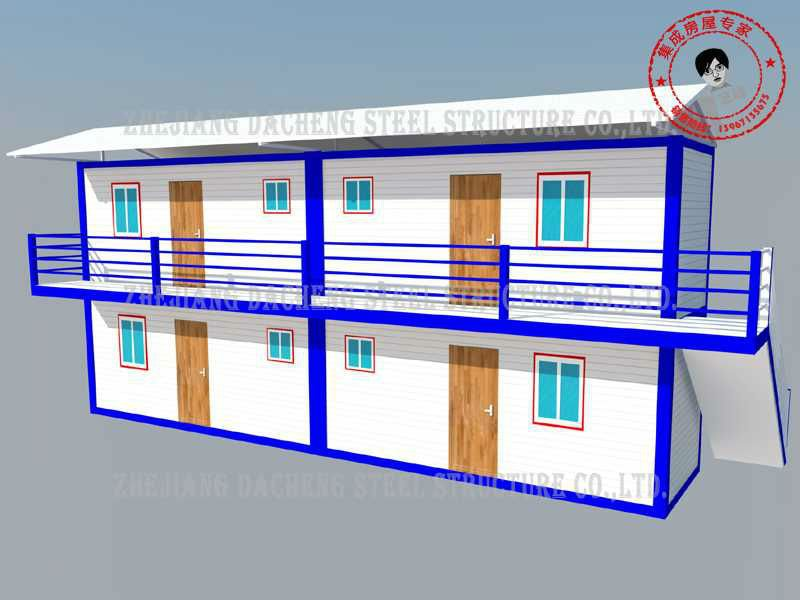 Steel frame movable prefab house drawings