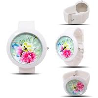 Наручные часы High quality vogue Cartoon Silicone strap watch Different Butterfly watches rhinestone women children ladies wristwatch C-122013