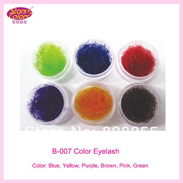 ריסים מלאכותיים בצבע בודדים הרחבה בעבודת יד חופשי מזויף ריסים C תלתל 0.15mmx10mm חום/סגול/צהוב/ורוד/כחול/ירוק