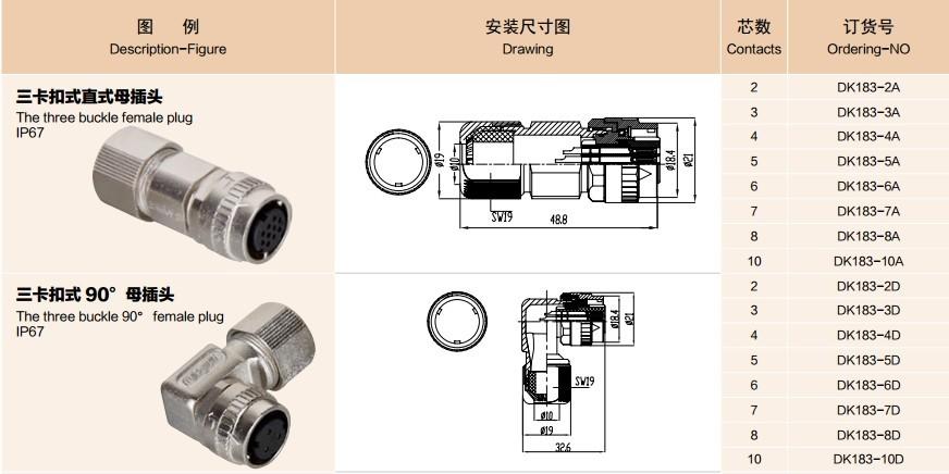 10pin Ddk Cm10 Series Servo Motor Quick Connector Buy
