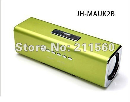 10pcs soundbox Music angel UK2 speakers lithium battery + FM+U disk+SD/TF card Free shipping