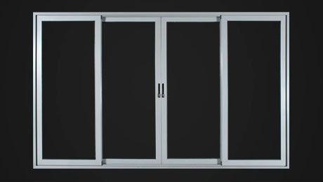 blanco marco de aluminio ventana de cristal climalit