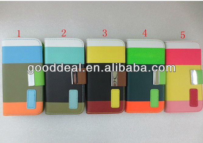 mobile phone leather case for samsung galaxy s4 i9082