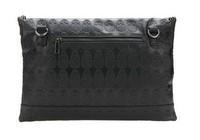 Клатч Hot large big PU leather skull fashion rivet stud black day clutch envelope purse bag, Women designer punk best selling cute item