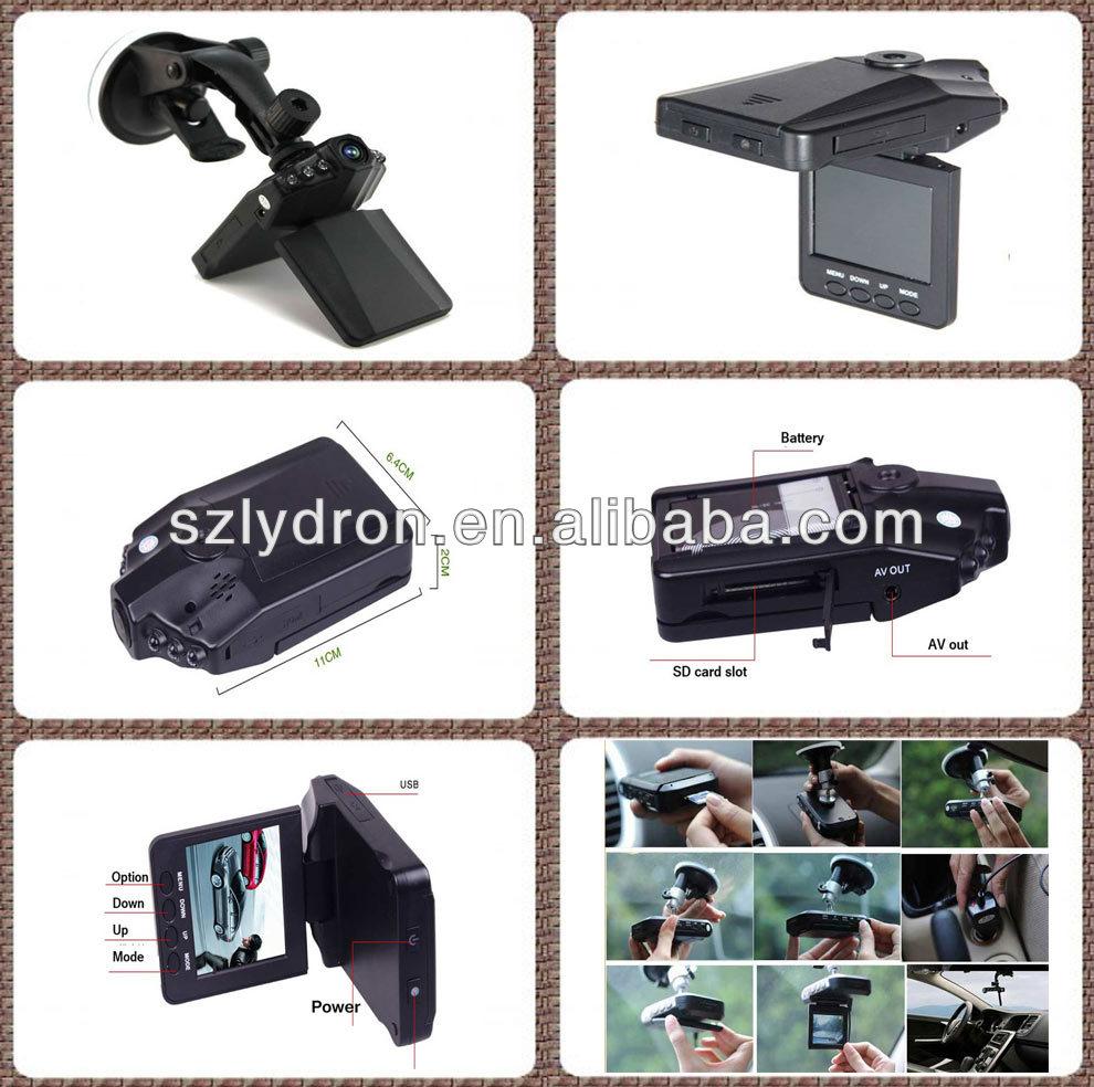 Sunplus 720 P voiture DVR LED IR Night Vision HD voiture caméra H198