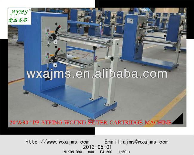 Supply10'',20'',30'',40'', PP Yarn Winding Cartridge Filter Machine