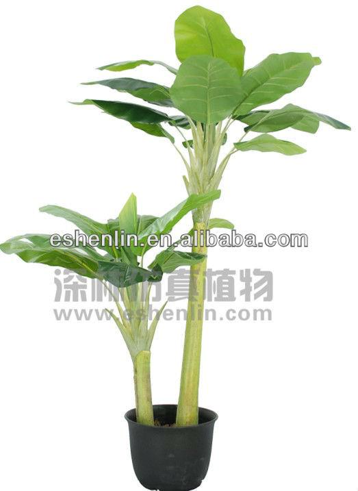 Deux troncs grand feuilles pas cher artificielle plantes for Nettoyer feuilles plantes