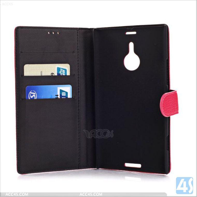 Wallet leather case for nokia lumia 1520