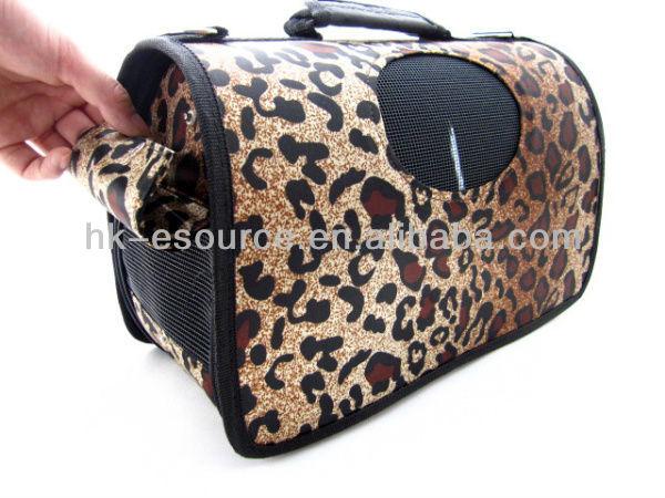 Stylish leopard pet pocket dog carrier