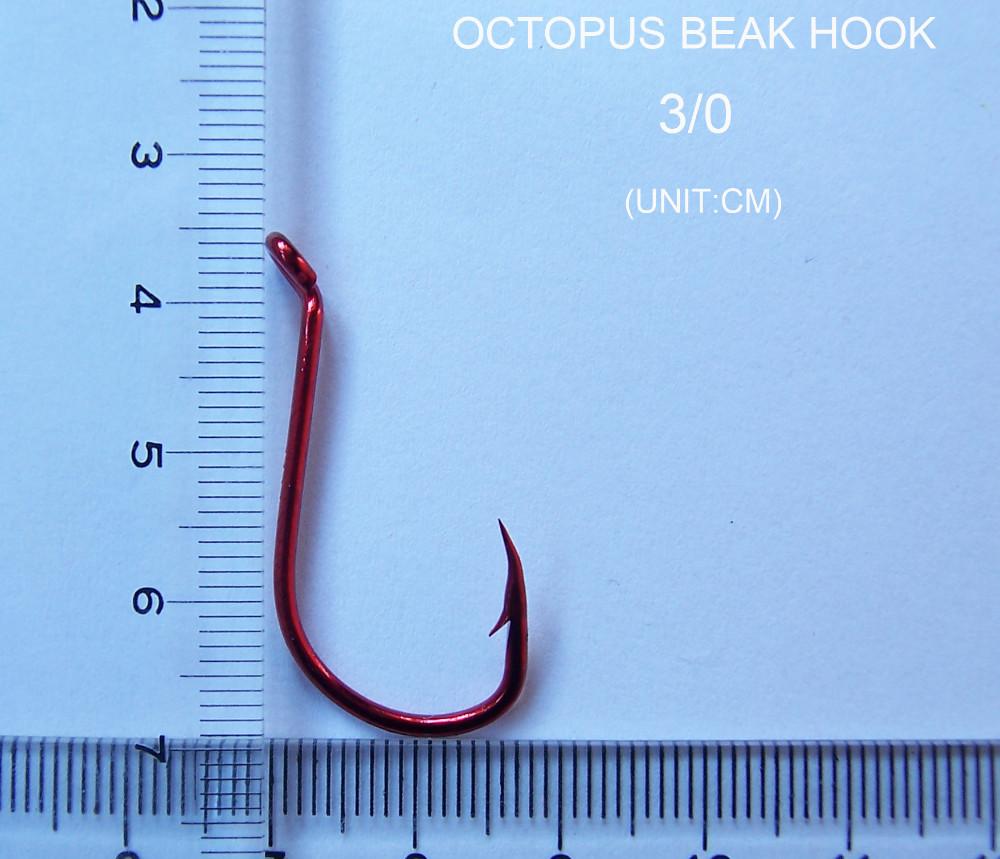 50 x 7//0 Chemically Sharpened Octopus Beak  Fishing Hooks Bulk Pack