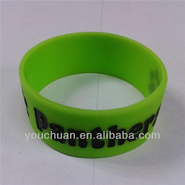 Vivid activity paste pictures silicone 1 inch bracelet Muliti-colors silicone bracelet